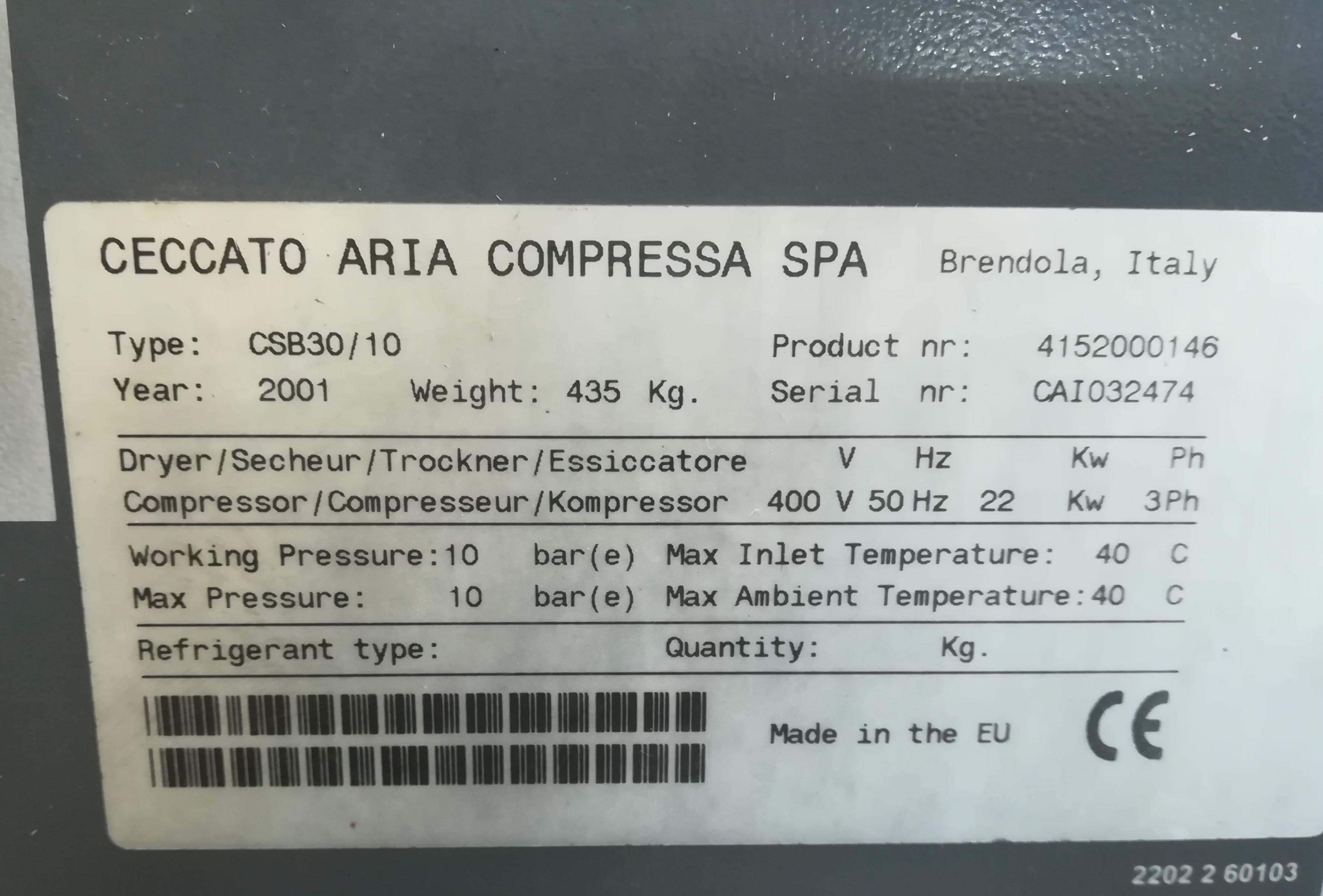 Compressore rotativo Ceccato CSB30/10 in vendita - foto 3