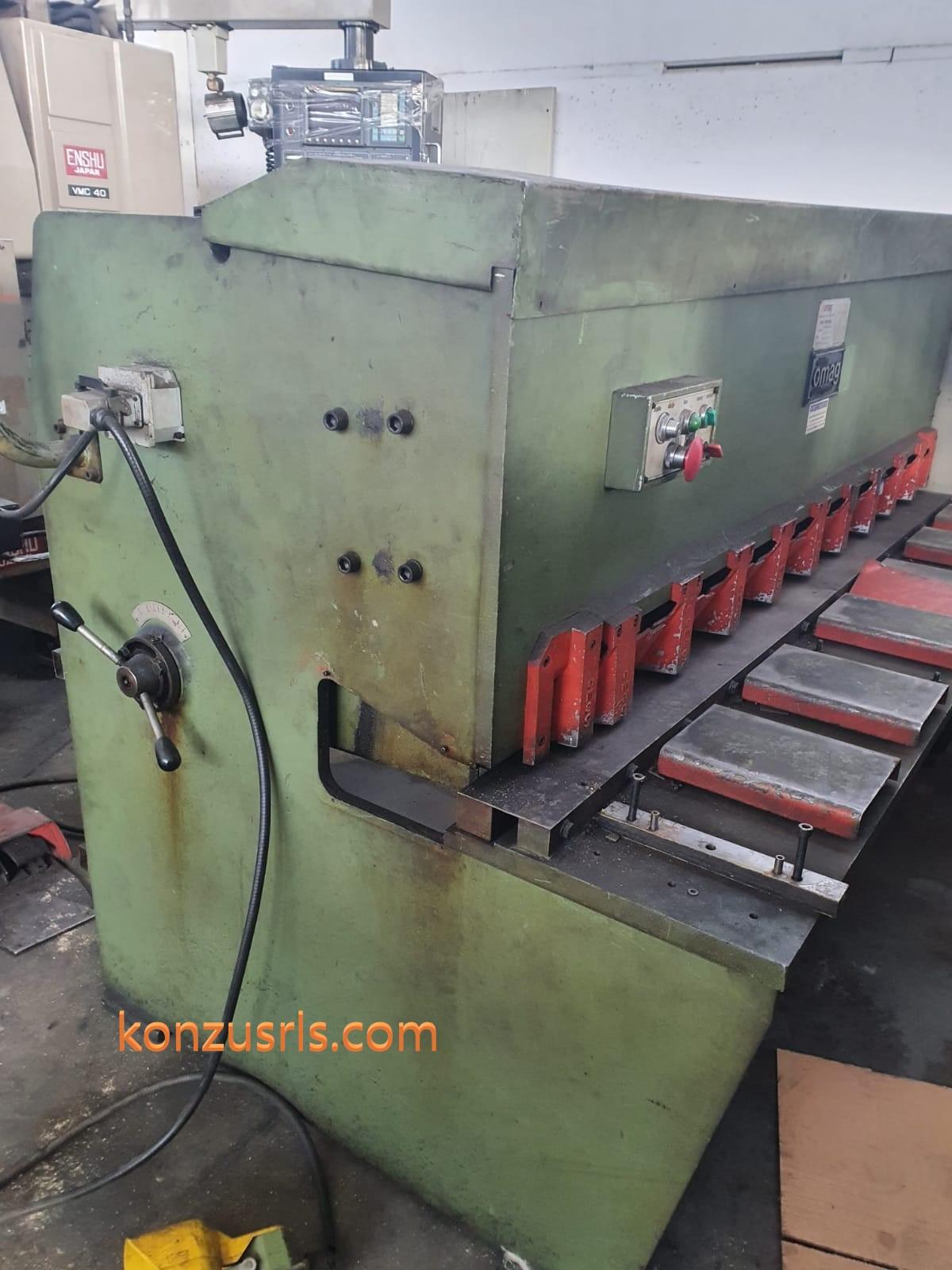Cesoia idraulica OMAG 2000 mm X 4 mm CI 204 in vendita - foto 1
