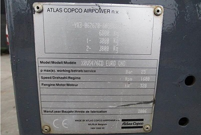 Compressore Atlas Copco XRVS-476 CD - N in vendita - foto 3