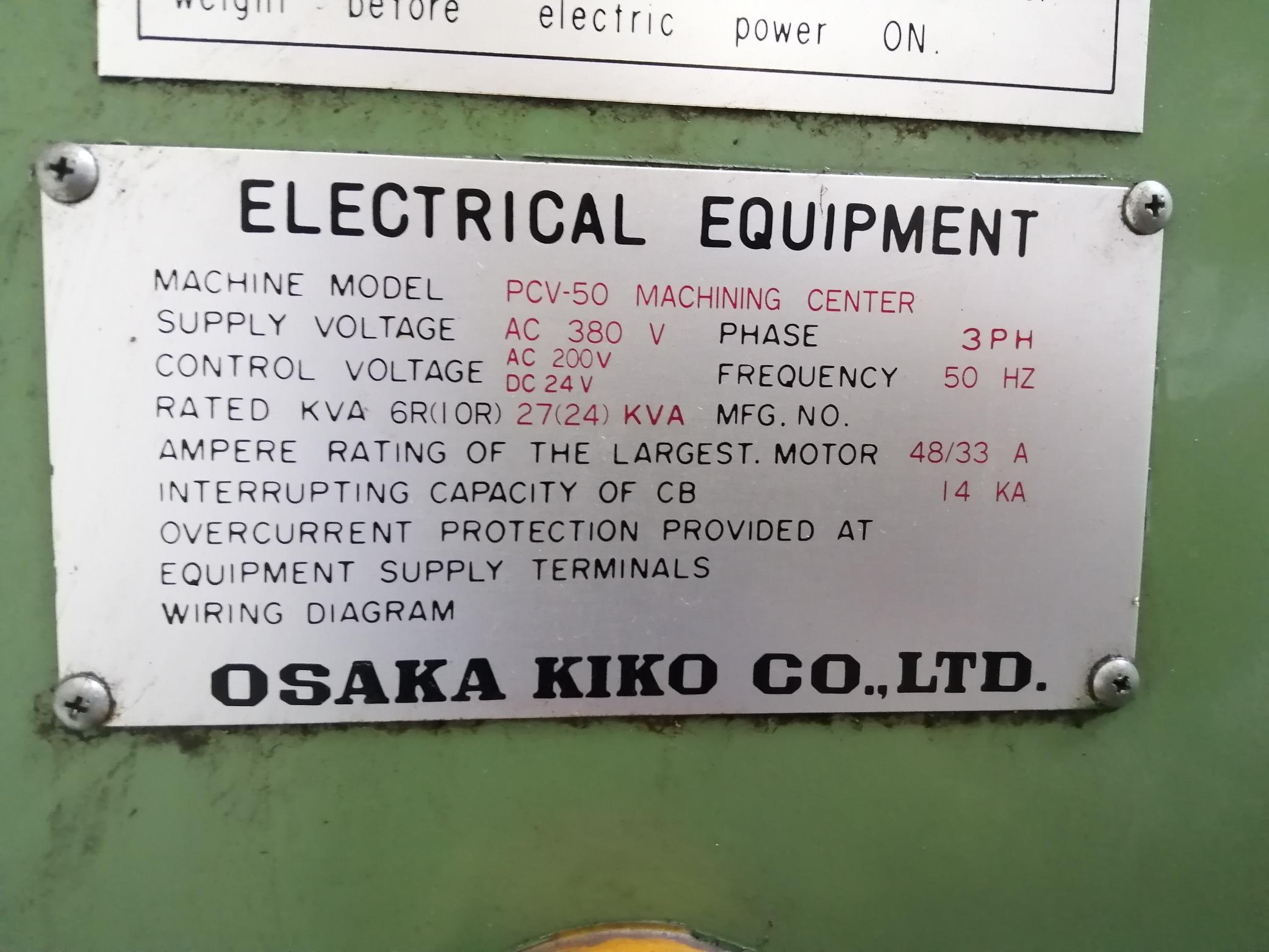 Centro di lavoro CNC Verticale Fresatrice Osaka Kiko in vendita - foto 7