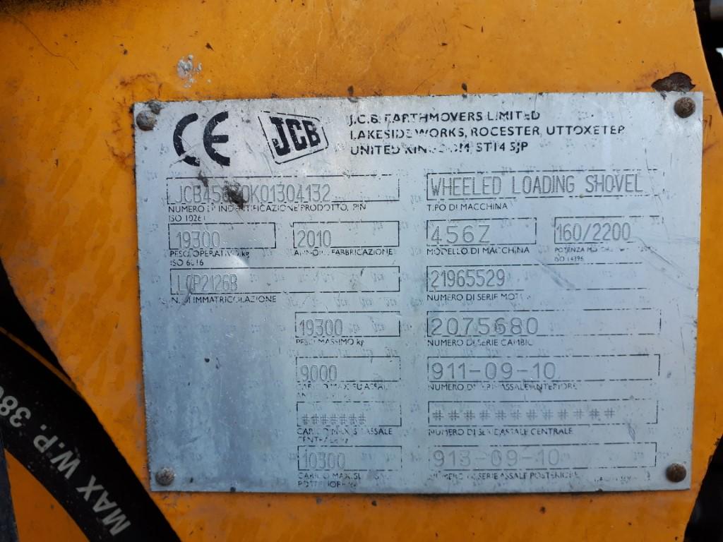 Pala gommata JCB 456, anno 2010, 16.000 ore  in vendita - foto 9