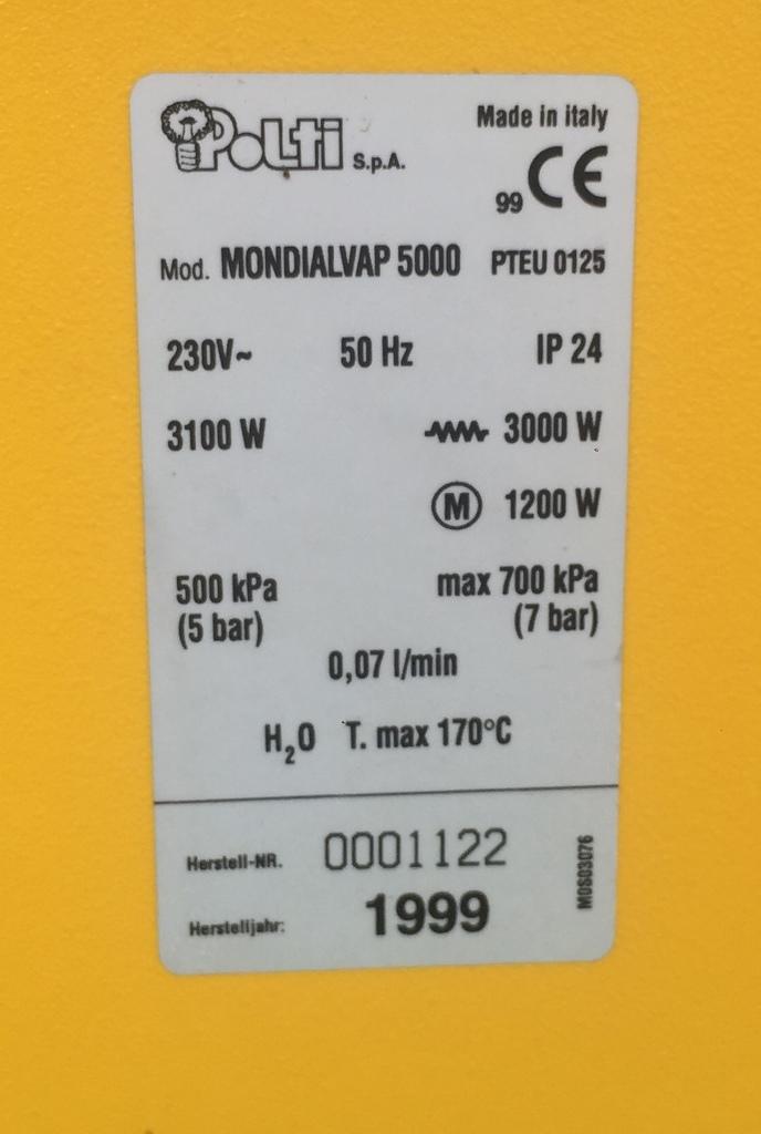Igienizzatore a vapore  MondialVap 5000 Polti in vendita - foto 6