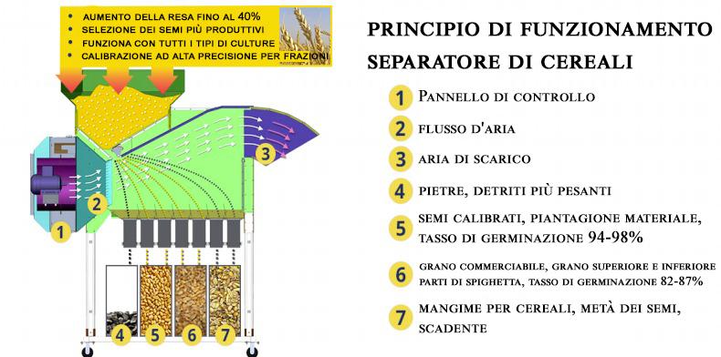 Pulitore Calibratore per Sementi e Cereali ASM 5 t/h in vendita - foto 8