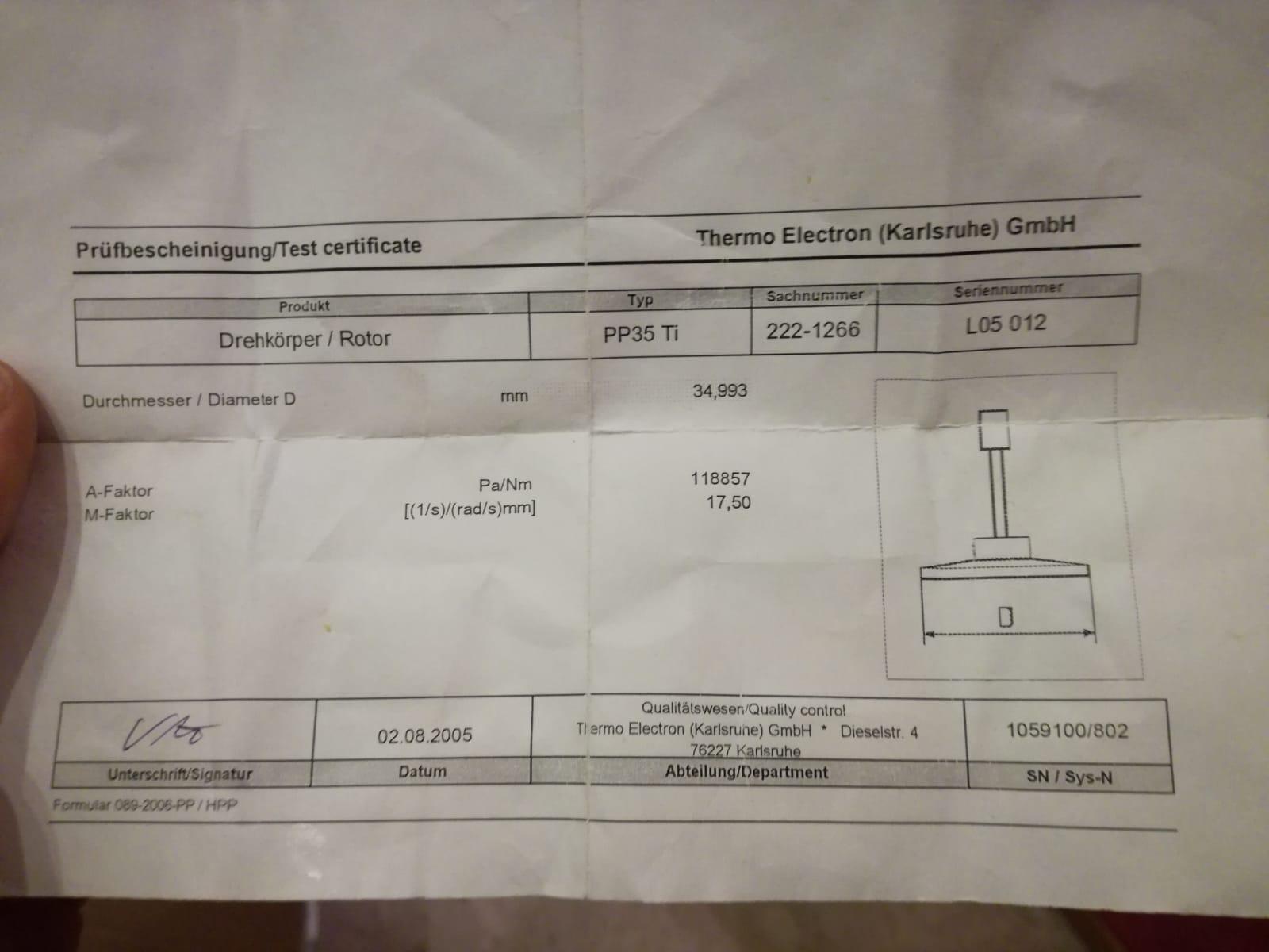 Reometro Haake rotovisco 1  in vendita - foto 3