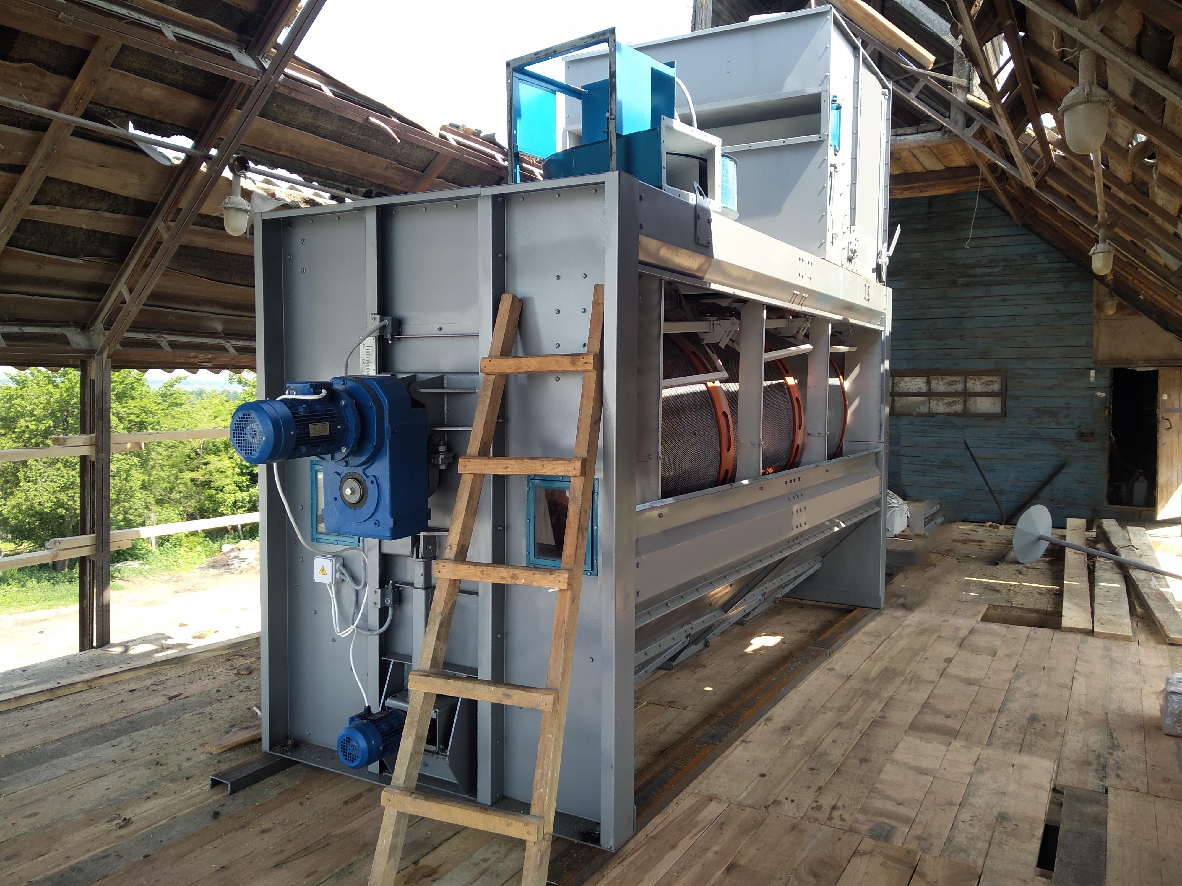 Separatore a tamburo BS-30 per la pulizia del grano in vendita - foto 3