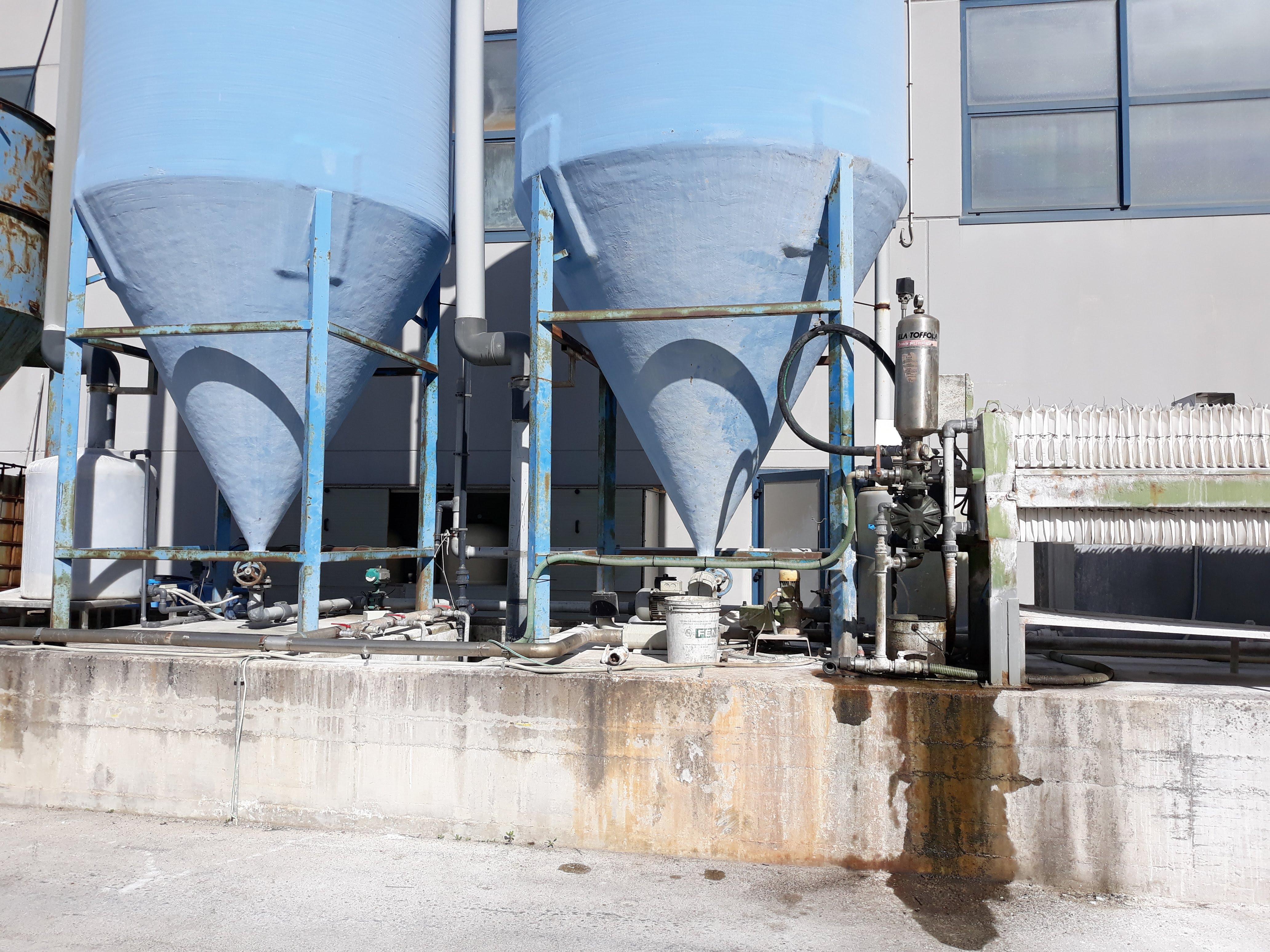 Impianto depurazione acque + filtro pressa  in vendita - foto 3