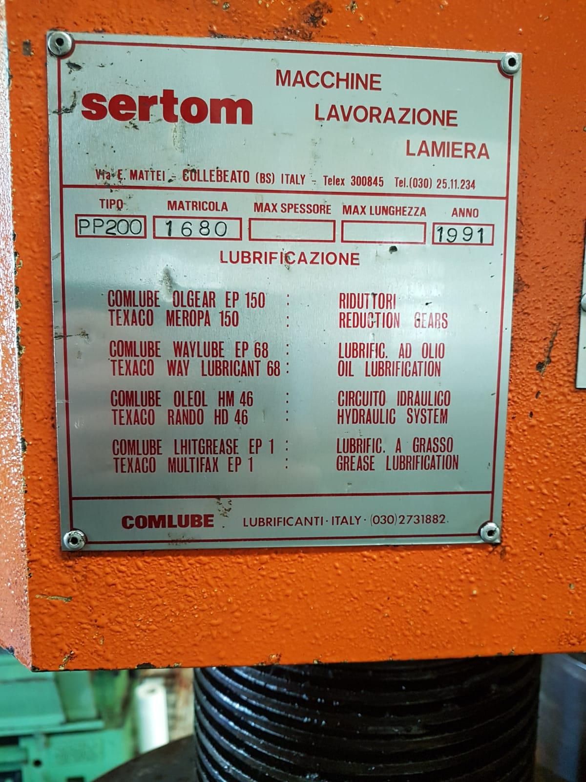 Curvaprofilati SERTOM PP200 usata in vendita - foto 4