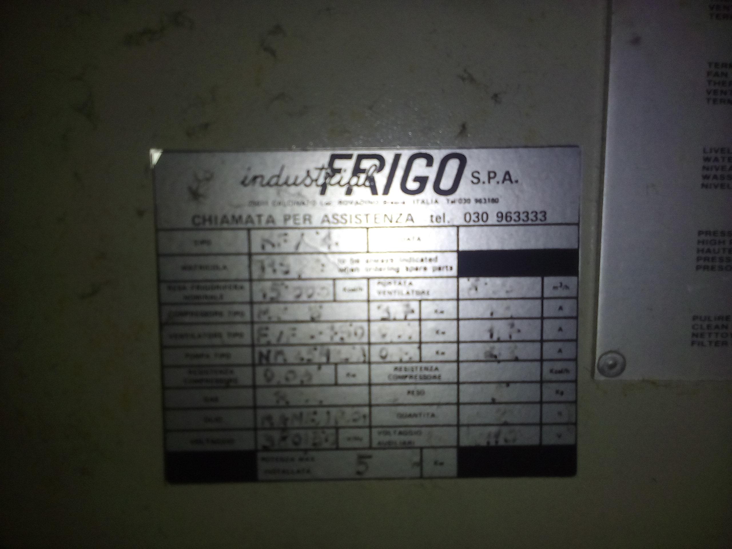 FRIGORIFERI INDUSTRIALI CHILLER  in vendita - foto 8