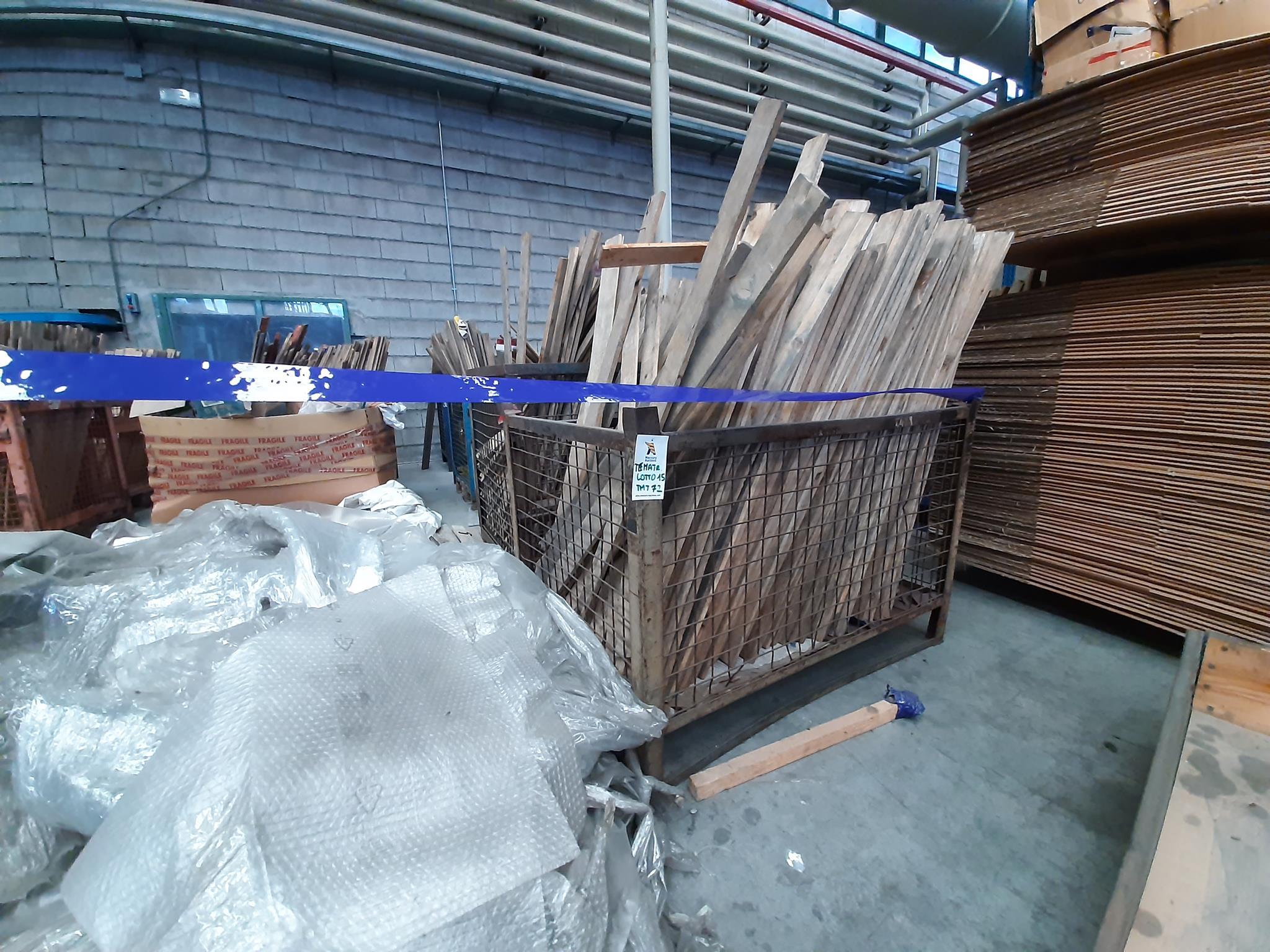 Ceste e cestoni in ferro, bancali in legno in vendita - foto 1