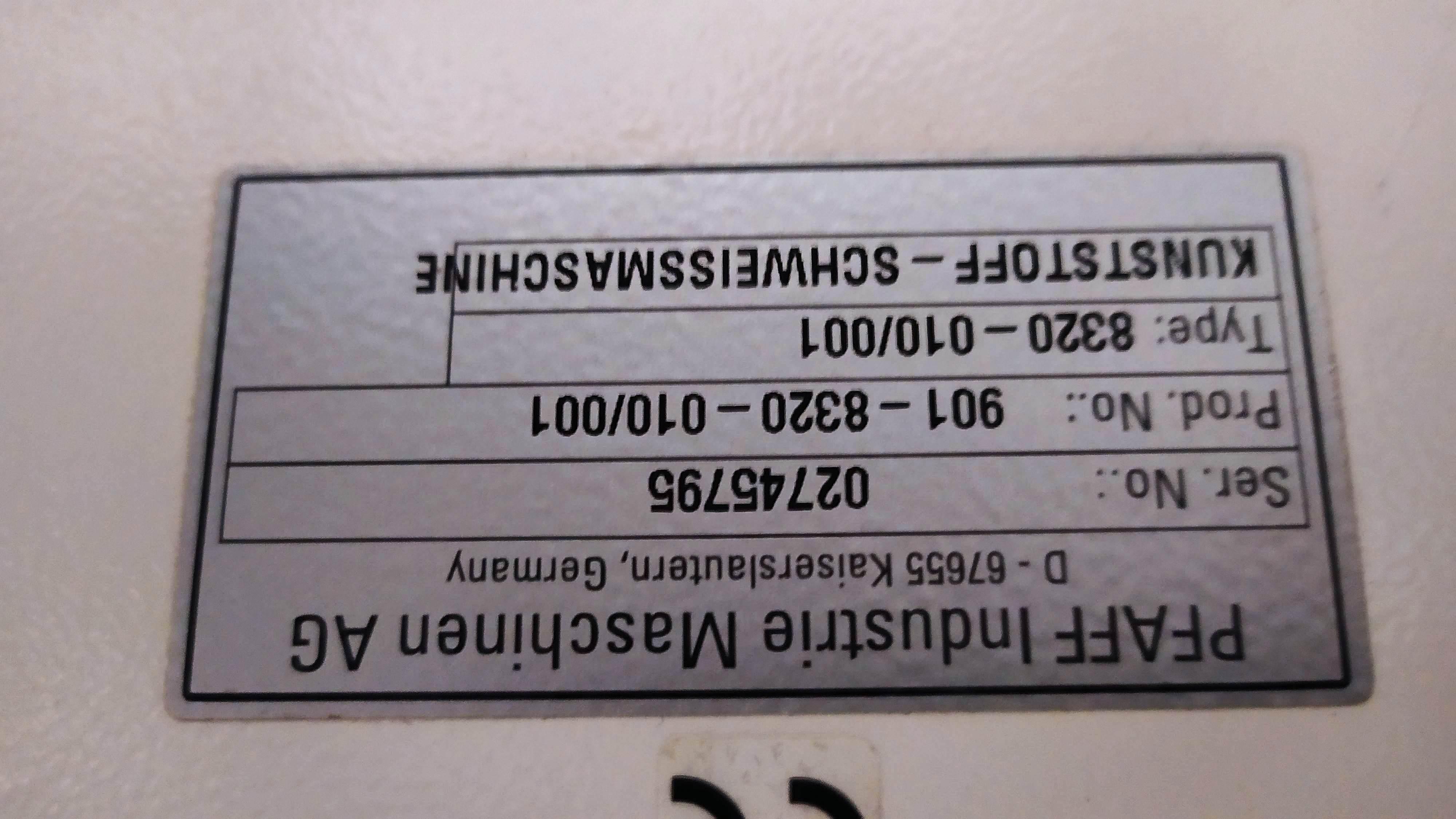 Termosaldatrice PFAFF 8320 (NUOVA) in vendita - foto 4